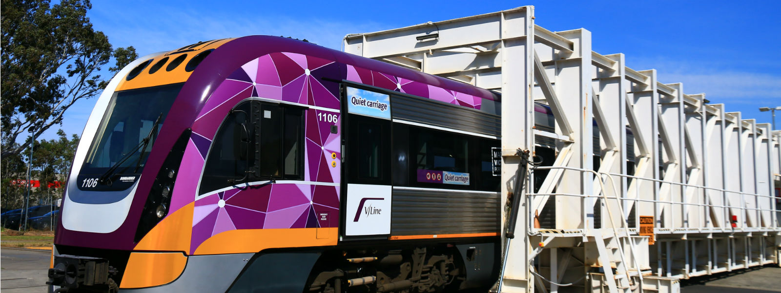 Image showing a V/Line train being constructed